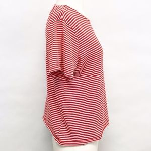 Zara Tops - 🌈 zara | trafaluc red and white striped tee sz M
